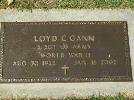 GANN  (VETERAN WWII), LOYD C - Boone County, Arkansas   LOYD C GANN  (VETERAN WWII) - Arkansas Gravestone Photos