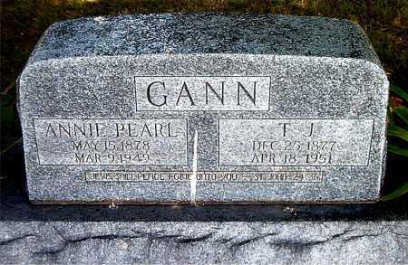 GANN, ANNIE PEARL - Boone County, Arkansas | ANNIE PEARL GANN - Arkansas Gravestone Photos