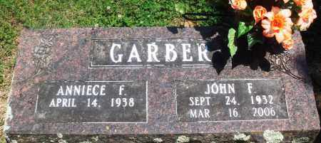 GARBER, JOHN F - Boone County, Arkansas | JOHN F GARBER - Arkansas Gravestone Photos