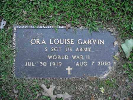 GARVIN  (VETERAN WWII), ORA LOUISE - Boone County, Arkansas | ORA LOUISE GARVIN  (VETERAN WWII) - Arkansas Gravestone Photos