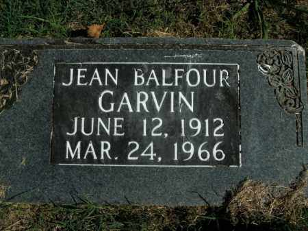 GARVIN, JEAN BALFOUR - Boone County, Arkansas   JEAN BALFOUR GARVIN - Arkansas Gravestone Photos