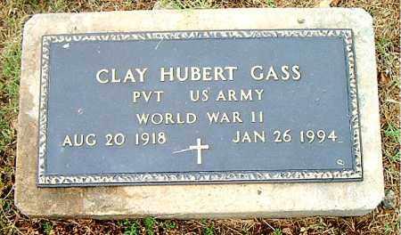 GASS  (VETERAN WWII), CLAY HUBERT - Boone County, Arkansas | CLAY HUBERT GASS  (VETERAN WWII) - Arkansas Gravestone Photos