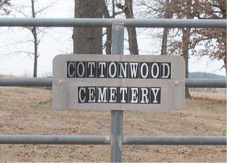 *COTTONWOOD CEMETERY SIGN,  - Boone County, Arkansas    *COTTONWOOD CEMETERY SIGN - Arkansas Gravestone Photos