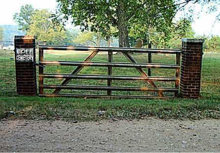*EOFF CEMETERY GATE,  - Boone County, Arkansas |  *EOFF CEMETERY GATE - Arkansas Gravestone Photos