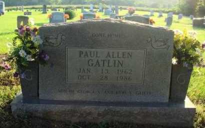 GATLIN, PAUL ALLEN - Boone County, Arkansas   PAUL ALLEN GATLIN - Arkansas Gravestone Photos