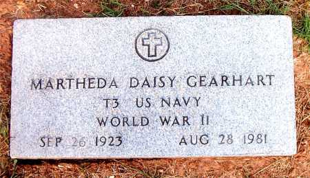 GEARHART  (VETERAN WWII), MARTHEDA DAISY - Boone County, Arkansas | MARTHEDA DAISY GEARHART  (VETERAN WWII) - Arkansas Gravestone Photos