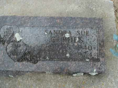 GERDES, SANDRA SUE - Boone County, Arkansas | SANDRA SUE GERDES - Arkansas Gravestone Photos