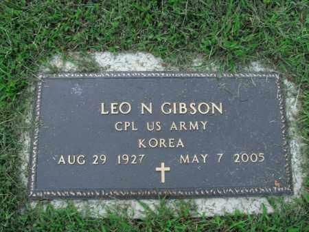 GIBSON  (VETERAN KOR), LEO N - Boone County, Arkansas   LEO N GIBSON  (VETERAN KOR) - Arkansas Gravestone Photos