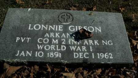 GIBSON  (VETERAN WWI), LONNIE - Boone County, Arkansas | LONNIE GIBSON  (VETERAN WWI) - Arkansas Gravestone Photos
