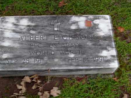 GIBSON  (VETERAN WWII), ALBERT E. - Boone County, Arkansas | ALBERT E. GIBSON  (VETERAN WWII) - Arkansas Gravestone Photos