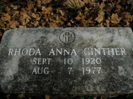 GINTHER, RHODA ANNA - Boone County, Arkansas | RHODA ANNA GINTHER - Arkansas Gravestone Photos
