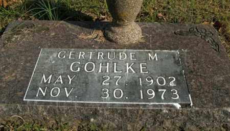 GOHLKE, GERTRUDE M. - Boone County, Arkansas   GERTRUDE M. GOHLKE - Arkansas Gravestone Photos
