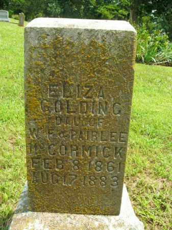 GOLDING, ELIZA - Boone County, Arkansas | ELIZA GOLDING - Arkansas Gravestone Photos