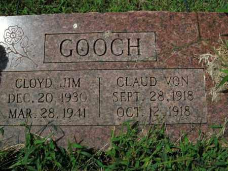 GOOCH, CLAUD VON - Boone County, Arkansas | CLAUD VON GOOCH - Arkansas Gravestone Photos