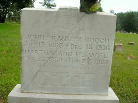 GOOCH, MARTHA ANN - Boone County, Arkansas   MARTHA ANN GOOCH - Arkansas Gravestone Photos