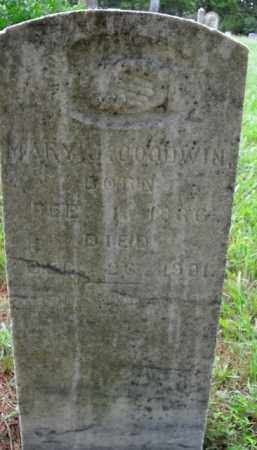 GOODWIN, MARY J. - Boone County, Arkansas | MARY J. GOODWIN - Arkansas Gravestone Photos