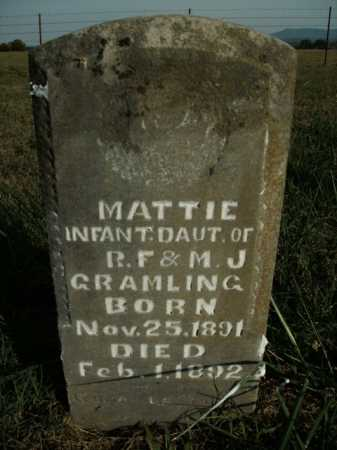 GRAMLING, MATTIE - Boone County, Arkansas | MATTIE GRAMLING - Arkansas Gravestone Photos