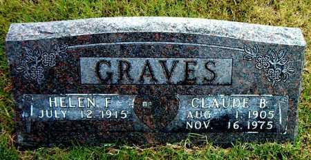GRAVES, CLAUDE   B. - Boone County, Arkansas   CLAUDE   B. GRAVES - Arkansas Gravestone Photos