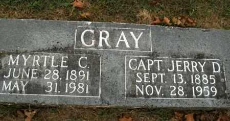 GRAY, JERRY D. (CAPTAIN) - Boone County, Arkansas   JERRY D. (CAPTAIN) GRAY - Arkansas Gravestone Photos
