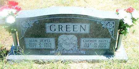 GREEN, ALVA JEWEL - Boone County, Arkansas | ALVA JEWEL GREEN - Arkansas Gravestone Photos