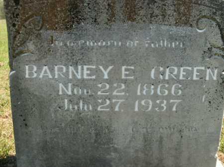 GREEN, BARNEY E. - Boone County, Arkansas | BARNEY E. GREEN - Arkansas Gravestone Photos