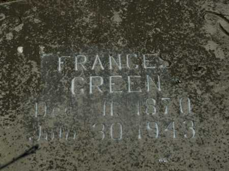 GREEN, FRANCES - Boone County, Arkansas | FRANCES GREEN - Arkansas Gravestone Photos