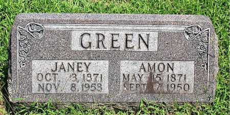 GREEN, JANEY - Boone County, Arkansas | JANEY GREEN - Arkansas Gravestone Photos
