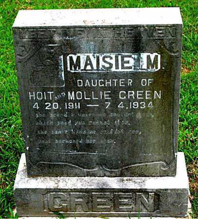 GREEN, MAISIE M. - Boone County, Arkansas | MAISIE M. GREEN - Arkansas Gravestone Photos