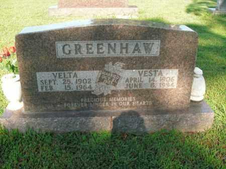 GREENHAW, VESTA - Boone County, Arkansas | VESTA GREENHAW - Arkansas Gravestone Photos