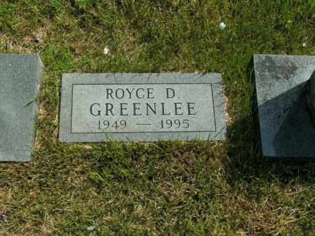 GREENLEE, ROYCE D. - Boone County, Arkansas | ROYCE D. GREENLEE - Arkansas Gravestone Photos