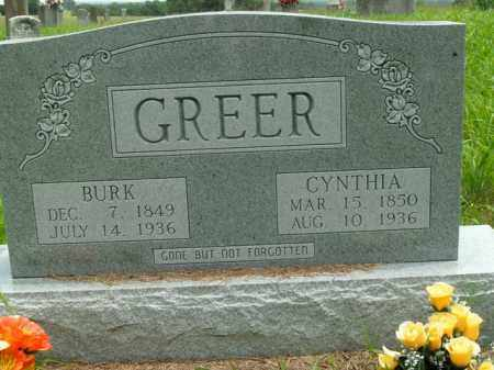 GREER, BURK - Boone County, Arkansas   BURK GREER - Arkansas Gravestone Photos