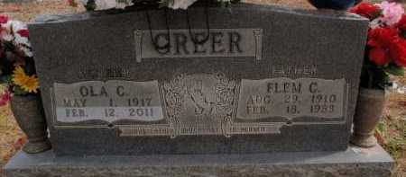 GREER, FLEM C. - Boone County, Arkansas | FLEM C. GREER - Arkansas Gravestone Photos