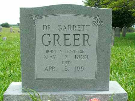 GREER, GARRETT - Boone County, Arkansas | GARRETT GREER - Arkansas Gravestone Photos