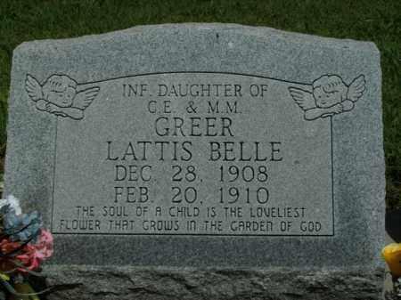 GREER, LATTIS BELLE - Boone County, Arkansas | LATTIS BELLE GREER - Arkansas Gravestone Photos