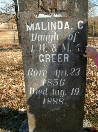 GREER, MALINDA C. - Boone County, Arkansas | MALINDA C. GREER - Arkansas Gravestone Photos