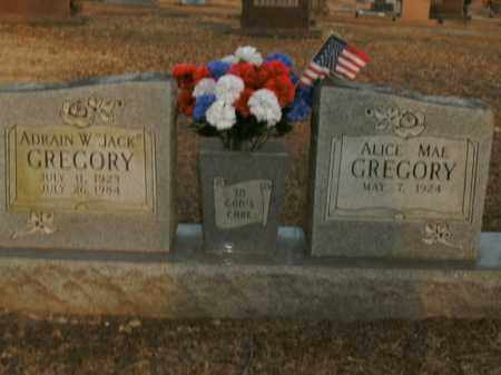 "GREGORY, ADRAIN W. ""JACK"" - Boone County, Arkansas   ADRAIN W. ""JACK"" GREGORY - Arkansas Gravestone Photos"