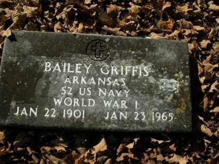GRIFFIS  (VETERAN WWI), DEROSS BAILEY - Boone County, Arkansas   DEROSS BAILEY GRIFFIS  (VETERAN WWI) - Arkansas Gravestone Photos