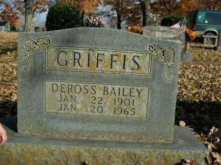 GRIFFIS, DEROSS BAILEY - Boone County, Arkansas | DEROSS BAILEY GRIFFIS - Arkansas Gravestone Photos