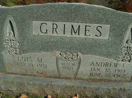 GRIMES (VETERAN WWII), ANDREW E. - Boone County, Arkansas | ANDREW E. GRIMES (VETERAN WWII) - Arkansas Gravestone Photos