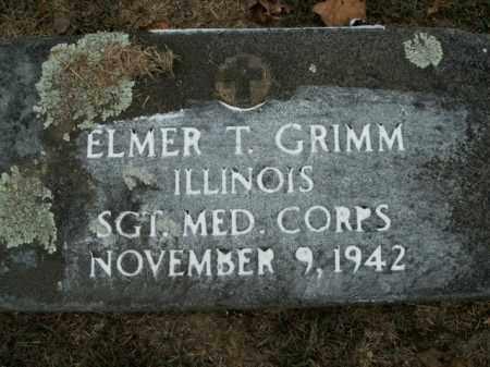 GRIMM  (VETERAN), ELMER T - Boone County, Arkansas   ELMER T GRIMM  (VETERAN) - Arkansas Gravestone Photos