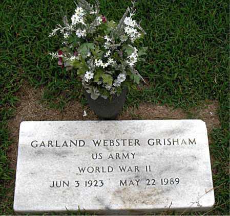 GRISHAM  (VETERAN WWII), GARLAND WEBSTER - Boone County, Arkansas | GARLAND WEBSTER GRISHAM  (VETERAN WWII) - Arkansas Gravestone Photos