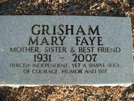 GRISHAM, MARY FAYE - Boone County, Arkansas | MARY FAYE GRISHAM - Arkansas Gravestone Photos