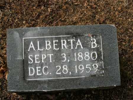 GROBLEBE, ALBERTA B. - Boone County, Arkansas   ALBERTA B. GROBLEBE - Arkansas Gravestone Photos