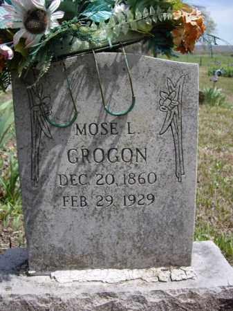GROGON, MOSE L. - Boone County, Arkansas   MOSE L. GROGON - Arkansas Gravestone Photos