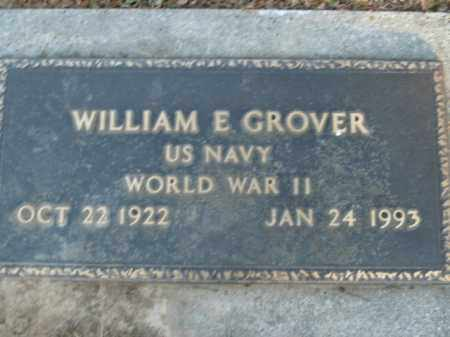GROVER  (VETERAN WWII), WILLIAM E - Boone County, Arkansas | WILLIAM E GROVER  (VETERAN WWII) - Arkansas Gravestone Photos