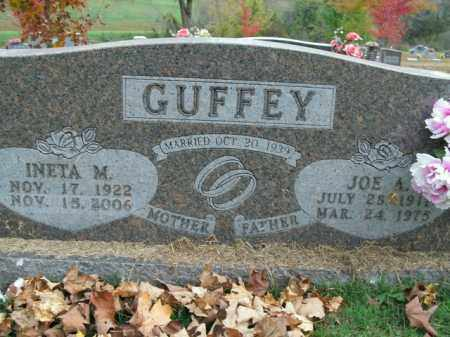 GUFFEY, INETA M. - Boone County, Arkansas | INETA M. GUFFEY - Arkansas Gravestone Photos