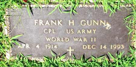 GUNN  (VETERAN WWII), FRANK H. - Boone County, Arkansas   FRANK H. GUNN  (VETERAN WWII) - Arkansas Gravestone Photos