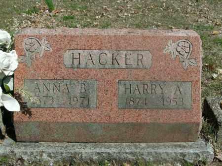 HACKER, ANNA B. - Boone County, Arkansas | ANNA B. HACKER - Arkansas Gravestone Photos