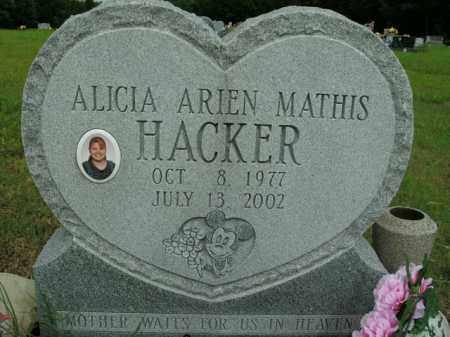 MATHIS HACKER, ALICIA ARIEN - Boone County, Arkansas   ALICIA ARIEN MATHIS HACKER - Arkansas Gravestone Photos