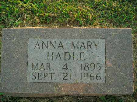 HADLE, ANNA MARY - Boone County, Arkansas | ANNA MARY HADLE - Arkansas Gravestone Photos